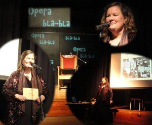 unieke muzikale voorstelling Opera bla-bla zangeres Rhea Knipscheer